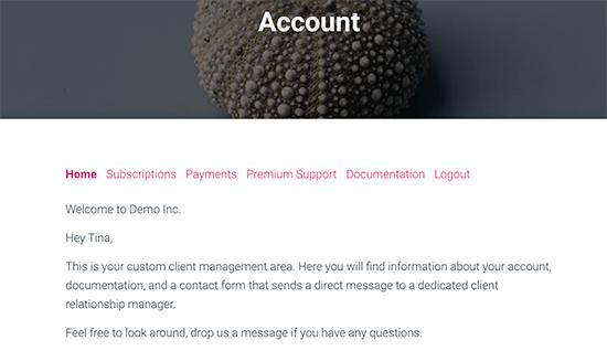 نمایش محتوای تولید شده برای کاربران خاص در صفحه اکانت