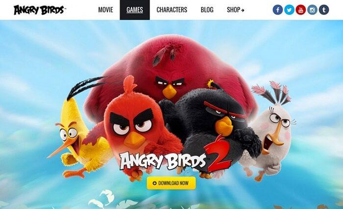 سایت Angry Birds