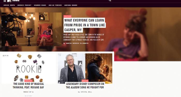 سایت MTV News