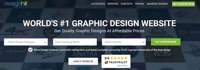 سایت فریلنسری Designhill