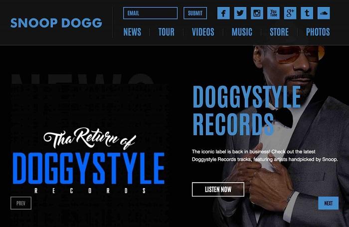 سایت Snoop Dogg