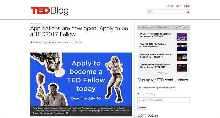 سایت TED Blog