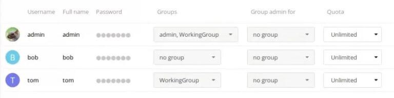 اضافه کردن اکانت جدید در nextcloud