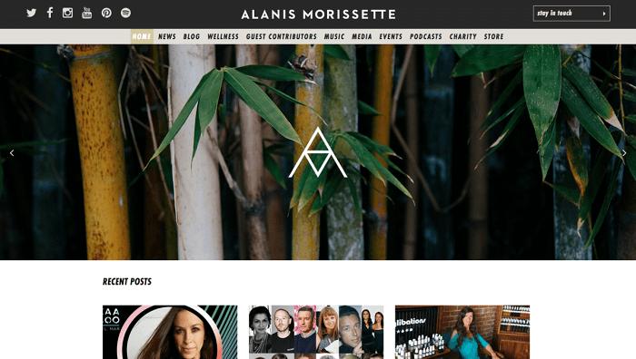 سایت Alanis Morissette