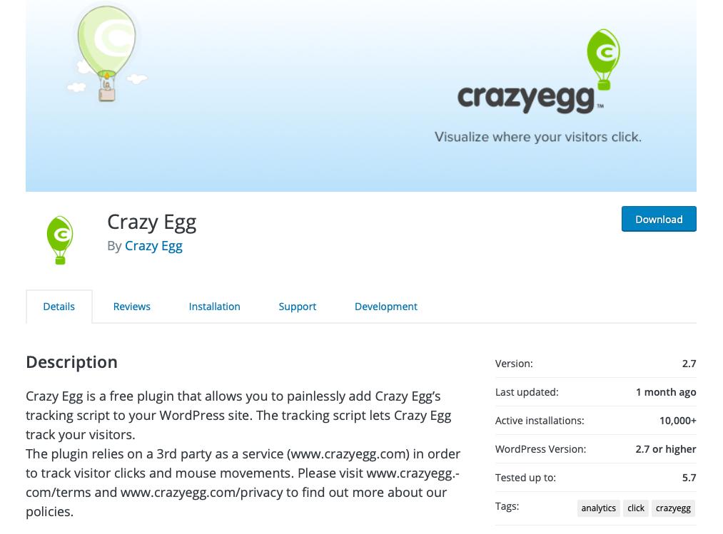 افزونه مدیریت ترافیک سایت crazyegg