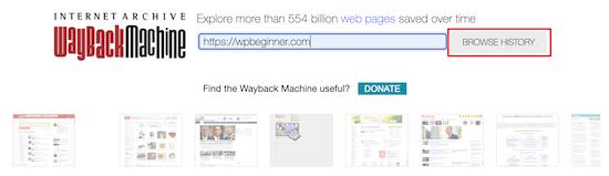 استفاده از Wayback Machine
