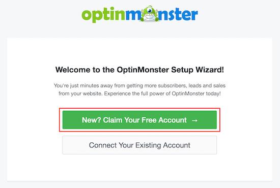 ایجاد حساب در OptinMonster
