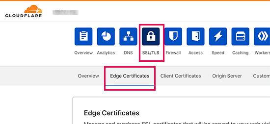 تنظیمات امنیتی در Cloudflare