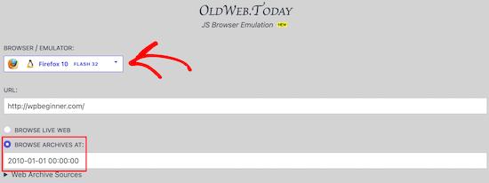 استفاده از Oldweb.today