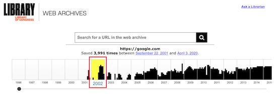 استفاده از امکانات Library of Congress Web Archive