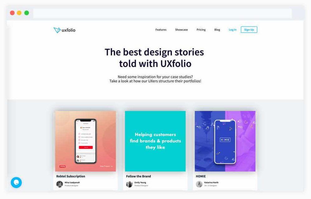 سایت ایده رابط کاربری UX folio