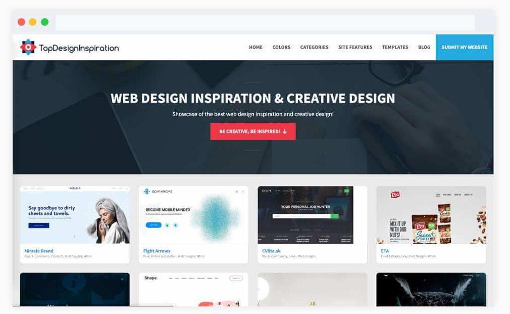 سایت ایده رابط کاربری TopDesignInspiration