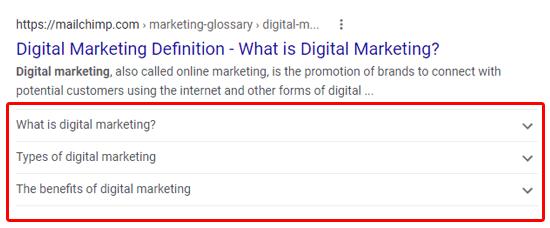 نحوه نمایش سؤالات متداول در گوگل
