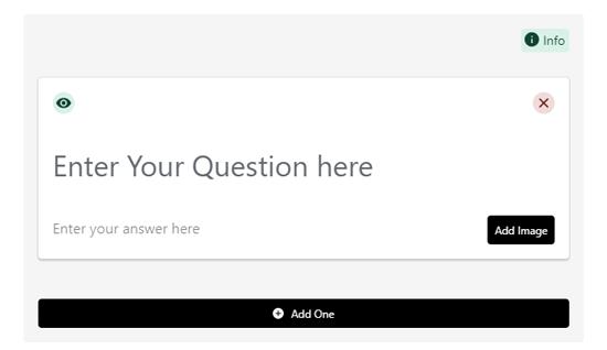 وارد کردن محتوای FAQ