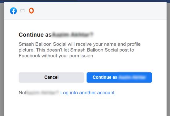 اتصال حساب فیسبوک به Smash Balloon