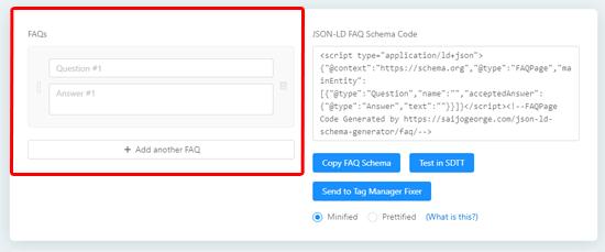 ایجاد شدن کد FAQ
