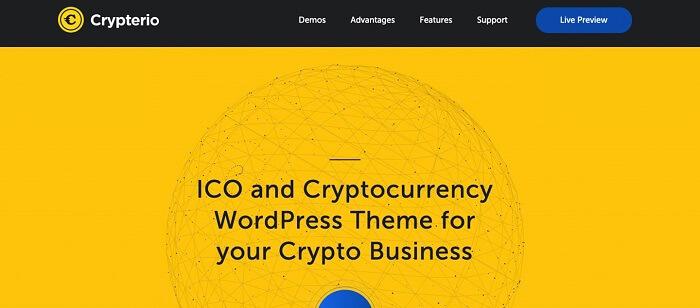 Cryptonio یکی از بهترین قالب های وردپرس 2021