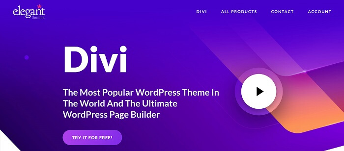 Divi یکی از بهترین قالب های وردپرس 2021
